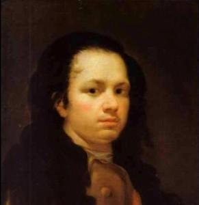 Goya a los 25 años. Autorretrato (1771)
