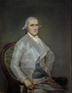 Este retrato de Bayeu fue hecho ya en la madurez de Goya.