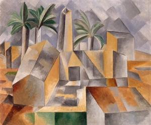 Fábrica en Horta del Ebro (Picasso1909). Elugar se llama hoy en día Horta de San Juan.