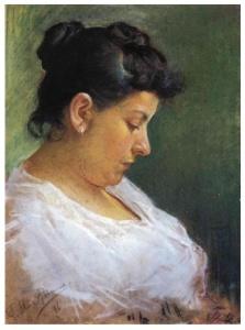 Retrato de su madre (1896) . Picasso tiene 15 años.