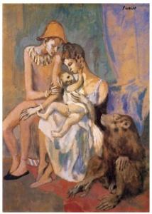 Familia de arlequín con mono (1906)