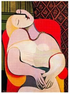El sueño -  Marie-Thérèse Walter (Picasso 1933)