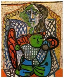 Caude con su madre (Picasso1948)