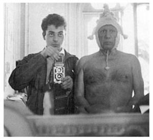 Picasso con su fotógrafo oficial André Villers.