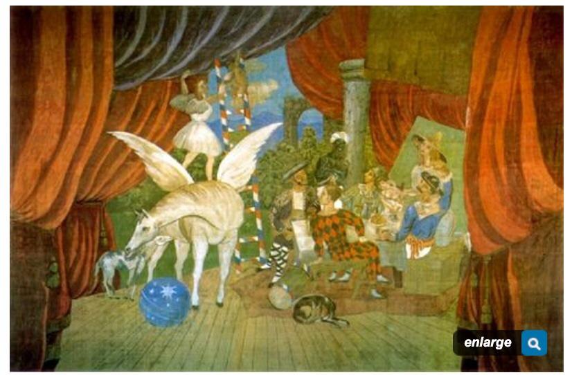 Cortina para el ballet 'Parade' (Picasso 1912)