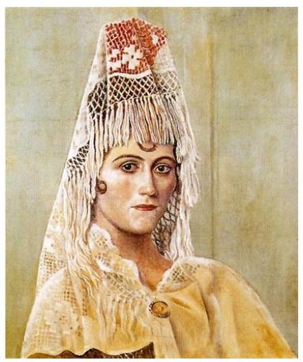 Olga con mantilla (Picasso1917)