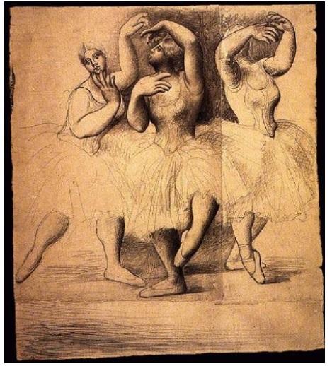 Tres bailarinas (Picasso 1919)