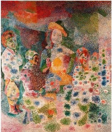 La familia feliz. (Picasso 1917)