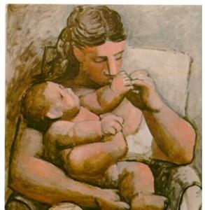 Madre e hijo (Picasso 1921)