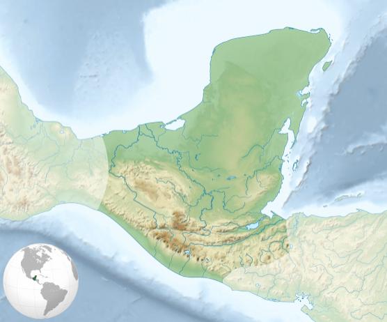 La civilización maya se desarrolla en América central